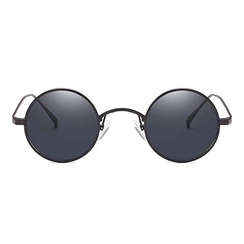 metal para plata de de de UV400 marco la Gafas hombres sol Highdas de del de redondas los retra circulares vendimia Gafas C2 del sol Mujeres PnCRZ