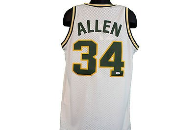 f3a5c609d Ray Allen Signed Jersey - Seattle Sonics Coa New - PSA DNA Certified -  Autographed