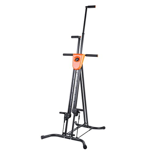 Vertical Climber Fitness Climbing Cardio Exercise, Full Body Workout Folding Step Climber Machine with Cast Iron Frame and Digital Display for Home Gym by Nexttechnology