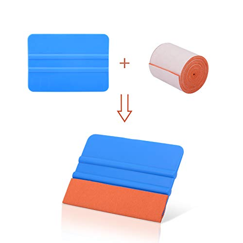 Ehdis 40 Car Squeegee Suede Felt Edge Soft Felt Scraper 1 Roll 5X100cm for Car Vinyl Squeegee Wrapping Window Auto Application Tool Not Included Scraper 4332992288