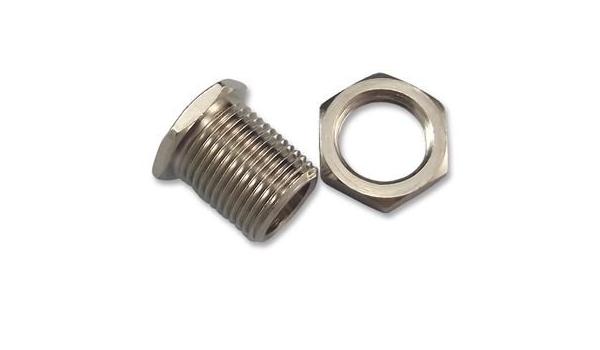 Nickel Plated 12.7 mm Thread Length H H Smith 119 Hexagonal Panel Bearing Brass