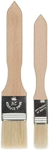 Redecker Pastry Brushes with Untreated Beechwood Handles, Set of 2, Multi-purpose Brushes with Natural Boar Br