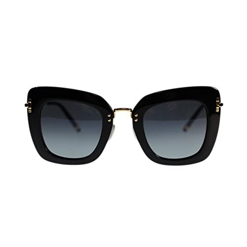 bf89678e00 Boucheron Womens Sunglasses BC0015S 001 Black Gold Grey Lens Oversized 47mm  Authentic high-quality