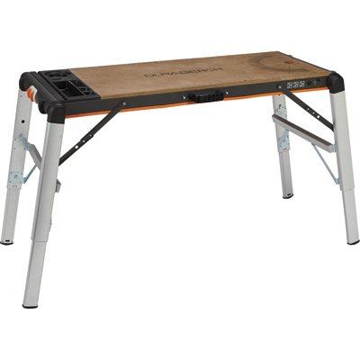 Portable Workbench - X-Tra Hand 2-in-1 Portable Workbench/Platform, 500-Lb. Capacity