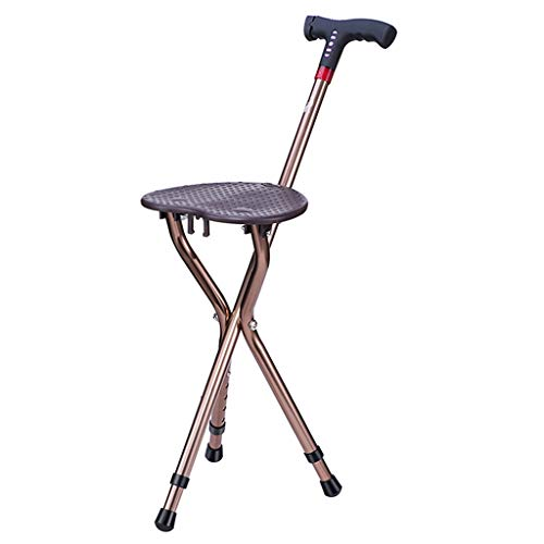 Canes- Adjusting Lighting Folding Walking Chair Stool Massage with seat Portable Fishing Rest Stool