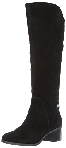 Anne Klein Women's Jela Suede Fashion Boot, Black Suede, 8 M US by Anne Klein