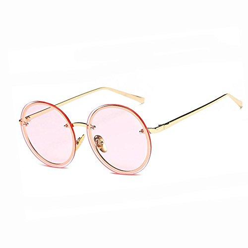 Solnueva De De YF161 Rosa clara De Redondo Sobredimensionado Señoras Gafas Transparente De Gafas Amarillo Hembra Transparente Tamaño Limotai Sol rosa Gran Sol Yf161 Verano Gafas qaEXBC