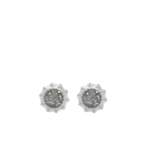 Danforth diamonds Pewter Post Earrings Aster