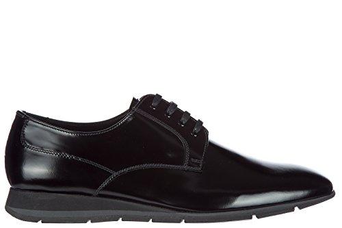 Prada Clásico Zapatos de Cordones Hombres EN Piel Nuevo Derby Negro