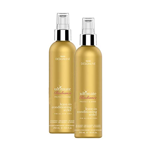 Ultimate Radiance Leave-In Conditioning Styler, 8.5 oz - Regis DESIGNLINE - Deep Conditioner Treatment that Reconstructs Damaged Hair and Repairs Split Ends (8.5 oz (2 pack)) (Regis Designline Ultimate Radiance Leave In Conditioning Styler)