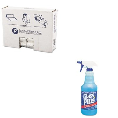 KITDRA94378CTIBSS303710N - Value Kit - Diversey Glass Cleaner (DRA94378CT) and IBS S303710N High Density Commercial Coreless Roll Can Liners, Natural (IBSS303710N)