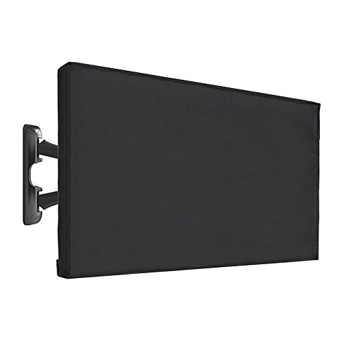 Vaiyer Outdoor TV Cover 50-52 Inch LED Flatscreen TV With Bottom Cover | Weatherproof and Dust-Proof Material | Universal Wall Mount Wall Bracket and Stand Compatible by Vaiyer
