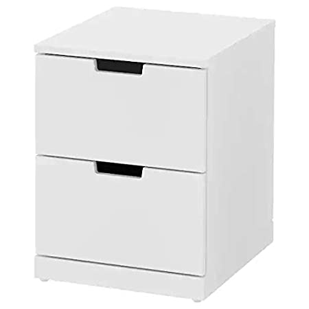 Ikea NORDLI Cassettiera Comodino con 2 cassetti, Bianco ...