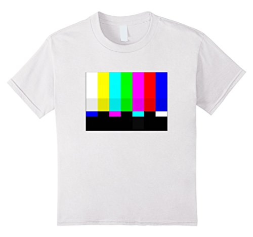Kids No Signal Television Screen Color Bars Test Pattern T-Shirt 6 White