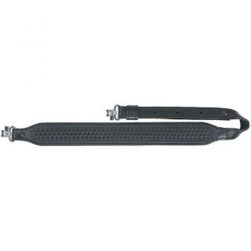 Basketweave Sling (AA&E Leathercraft 8502055S-010 Leather Long Taper Sling, Black)
