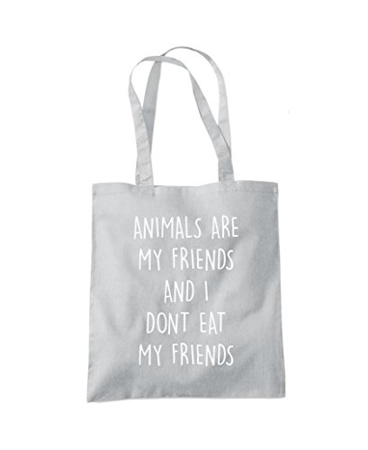 Tote my Bag Fashion don't I Grey my Shopper and Light eat Animals friends friends are 547znz