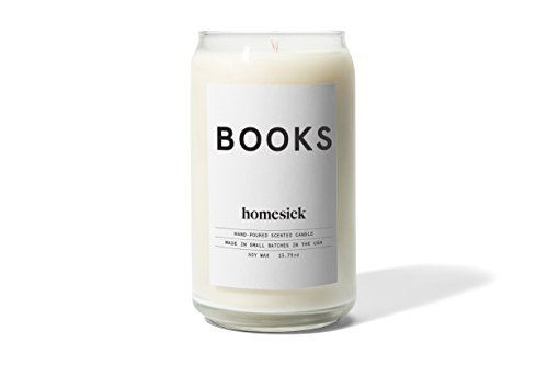 Homesick Scented Candle, Books from Homesick