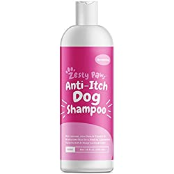Dog Shampoo with Oatmeal & Aloe Vera - Natural Grooming Pet Wash for Itchy & Sensitive Skin + Dandruff & Coat Odors - Gentle Anti Itch Formula - Vanilla Bean Scent - 16 OZ