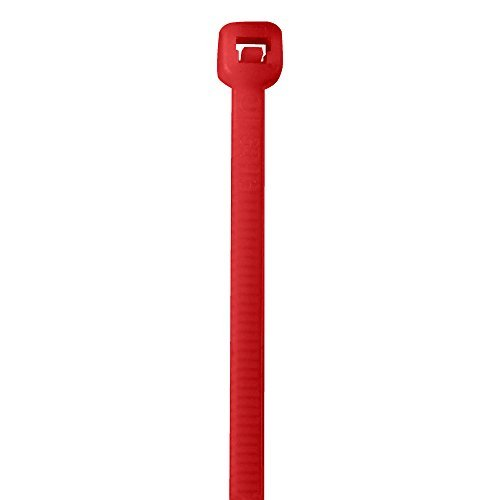 Partners Brand PCT185K Cable Ties 50# 18 Fluorescent Red (Pack of 500) [並行輸入品] B07N85VBR1