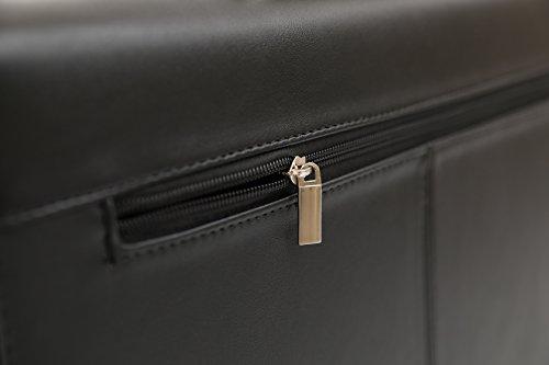 DEERLUX Men's Leather Laptop Briefcase, Black, One Size by DEERLUX (Image #8)