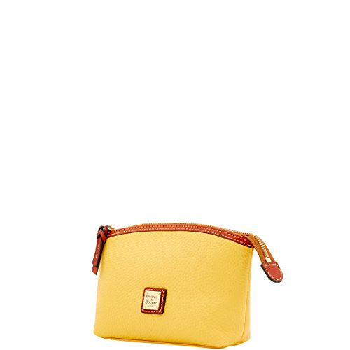 Dooney & Bourke Leather Cosmetic Case - Dooney & Bourke Pebble Grain Cosmetic Case Lemon Yellow