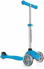 Globber - Primo 3-Wheel Kids Kick Scooter - Adjustable Height T-Bar - Comfort Handlebar Grips - for Boys and G