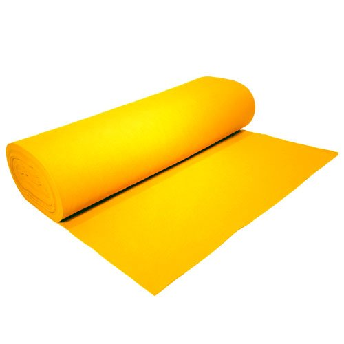 Acrylic Felt by the Yard 72'' Wide X 2 YD Long: Yellow by The Felt Store