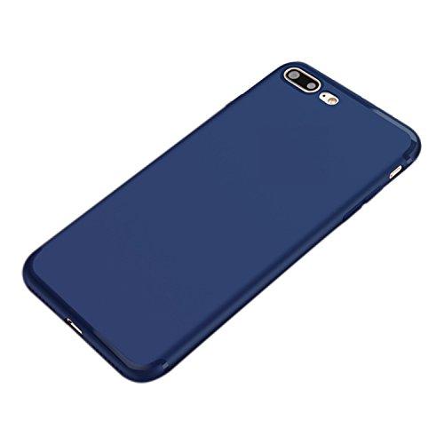 UNIYA iPhone 7 Plus case, Perfect Slim Fit Ultra Thin Protection Series TPU Black (Blue)