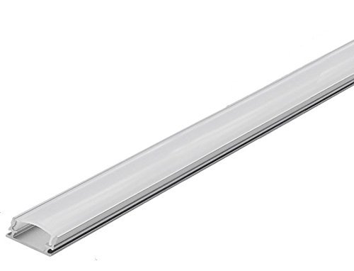 Aluminum Channel For LED Tape Light with Frosted Cover and Mounting Clips, U-Shape, 1M - 3.3FT (Pack of 10) by Ciata Lighting
