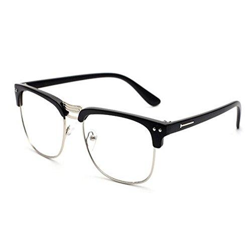 Semi sin Vintage de azul Lente Eyewear Moda Unisex Mujer Filtro los Arena Previniendo ojos Computadora Negra montura luz Claro Gafas Xinvision Hombre StgqEPxPn