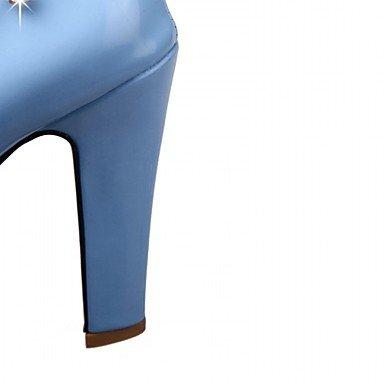 cuero PU Oficina Verano del partido boda de Otoño y Mujer sintético Primavera la Blue la la Carrera Pisos Noche de Invierno Comfort de novedad y de de wPq1IHHO