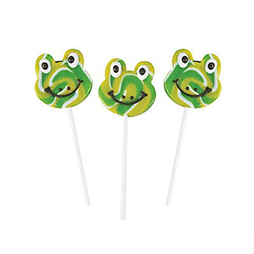 Green Frog, Swirl Pop Suckers, Lollipops For Kids, Fully Rely On God, Bulk, Halloween Candy, 12 Count