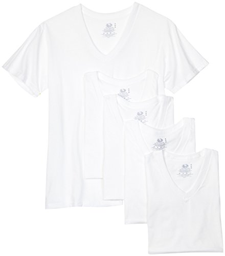 Fruit of the Loom Men's V-Neck Tee , White, X-Large