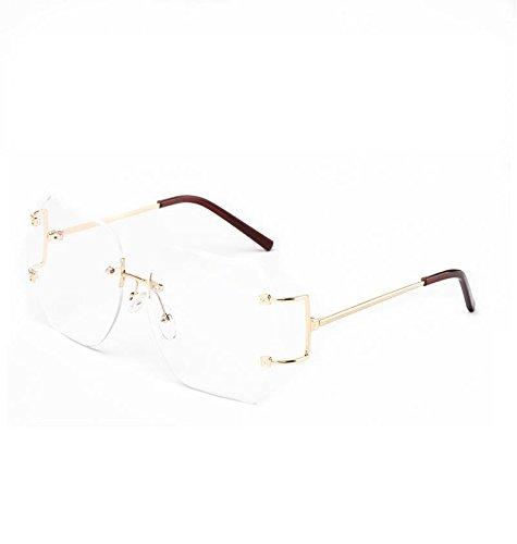 2ed195f939e PSP - United States - MINCL Hot Oversized Rimless Sunglasses Women ...
