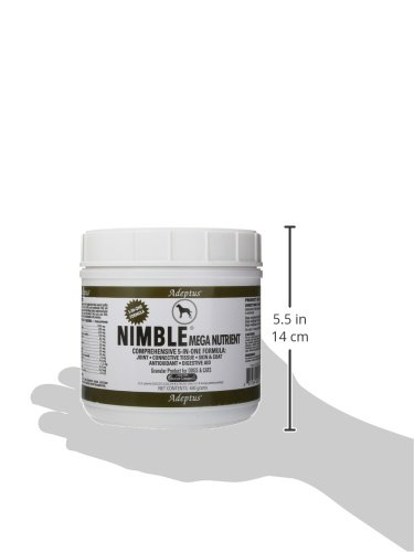 Adeptus Nutrition Nimble Mega Nutrient Pet Food, 480 g/5 x 5 x 4.5''
