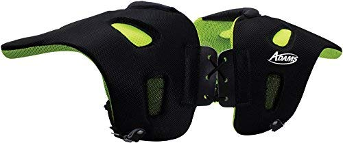 Adams USA 29 Fabric Covered Shoulder Injury Pad Black/Neon Green, Adult Large