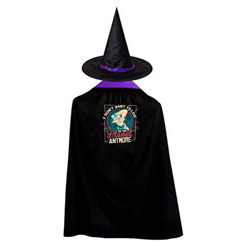 Futurama Halloween Costumes Witch Wizard Kids Cloak Cape For Children Boys Girls -