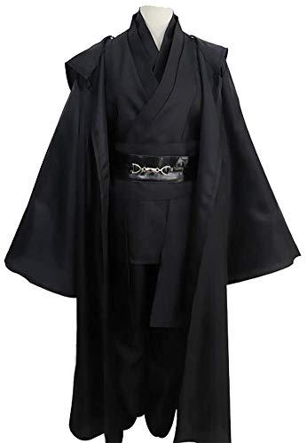 Vorwind Men's Cosplay Anakin Skywalker Jedi Knight Cloth Size Medium Black