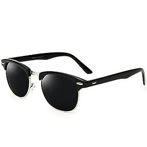 Joopin Semi Rimless Polarized Sunglasses Women Men Retro Brand Sun Glasses