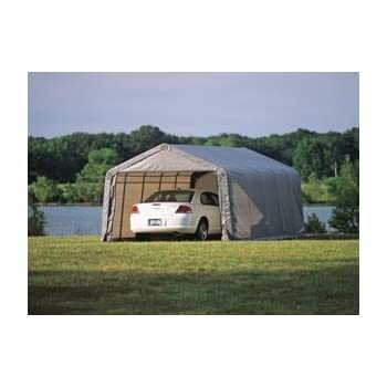 Amazon.com: ShelterLogic 12 x 20 x 10 ft. Instant Garage ...