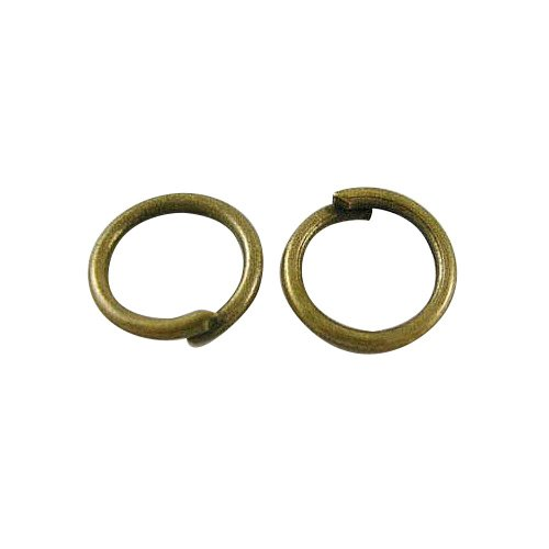 Pandahall 10g 6mm Antique Bronze Color Brass Jump Rings, Close but Unsoldered, about 6mm in diameter, 0.9mm thick