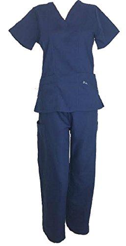 Womens Nursing Medical Zipper Pockets
