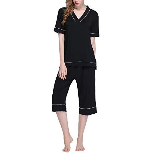 set donna Size Pigiama V Pigiama Size XL scollo da a Black Plus Red pigiama pigiama Color mod Amabubblezing AfxqZvv