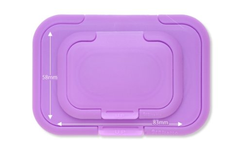 Bitatto Handy 2 Pack of Baby Wipe Cases (Normal & Mini Size) JAPAN (purple) by Bitatto (Image #2)