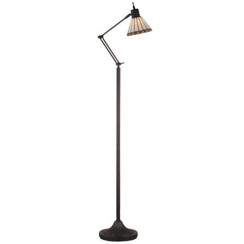 Meyda Tiffany 65947 Prairie Mission Adjustable Floor Lamp, 60