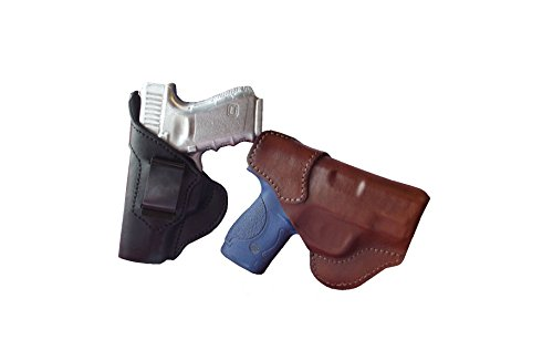 J&J Custom Fit Beretta Nano W/Lasermax Laser Formed IWB Inside Waistband Premium Leather Carry Holster (Black, Right)