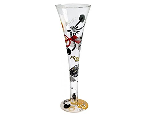Lolita Hand Painted Champagne Glass, Divorce