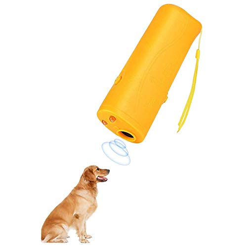 Lybrist Ultrasonic Dog Bark Deterrent & Handheld Anti Barking Repeller Training Gadget for Pets and Dog Trainer & Dog Barking Control Devices (Best Protection Dog Trainers)