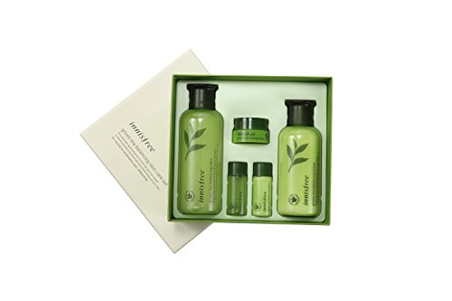 K Beauty Innisfree Skin Care Products Kit Green Tea Balancing Normal to Combination Skin Jeju (Skin 200 Oasis)