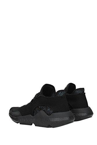 Adidas Y-3 Chaussures De Sport Saikou Textilie Technique Et En Daim Gris Noir